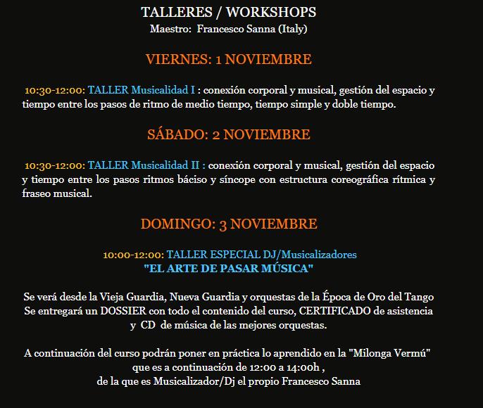 Spain October 31 November 3 2019 Tango Magico Festival And